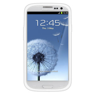 AMZER TPU Skin Case with Kickstand - White for Samsung GALAXY S III GT-I9300