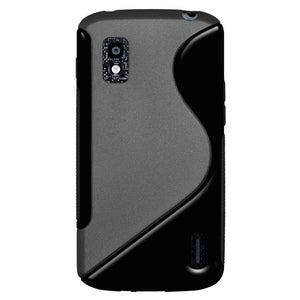 AMZER TPU Hybrid Case - Black for Google Nexus 4 E960