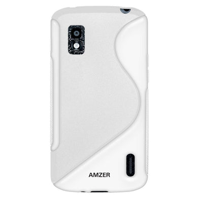 AMZER TPU Hybrid Case - White for Google Nexus 4 E960