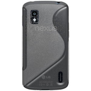 AMZER TPU Hybrid Case - Translucent Smoke Grey for Google Nexus 4 E960