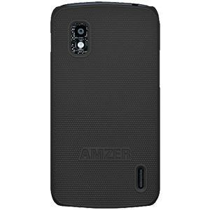AMZER Snap On Case - Black for Google Nexus 4 E960