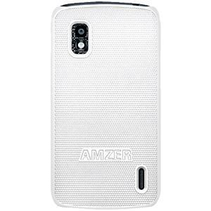 AMZER Snap On Case - White for Google Nexus 4 E960