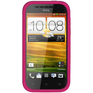 Amzer Silicone Skin Jelly Case - Hot Pink for HTC One SV