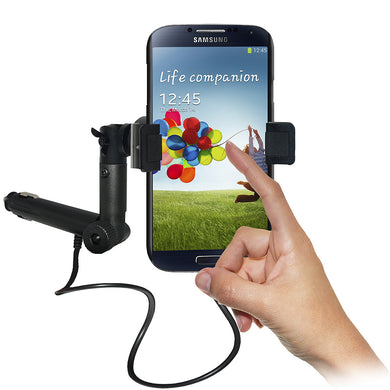 AMZER Lighter Socket Phone Mount with Charging & Case System for O2 Samsung GALAXY S4 GT-I9500