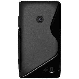 AMZER Shockproof Soft TPU Hybrid Case for Nokia Lumia 520 - Black