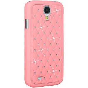 AMZER Diamond Lattice Snap On Shell Case - Light Pink for Samsung GALAXY S4 GT-I9500
