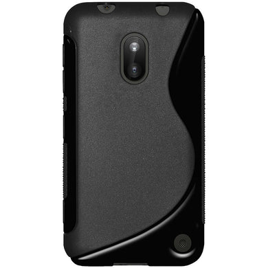 AMZER TPU Hybrid Case - Solid Black for Nokia Lumia 620