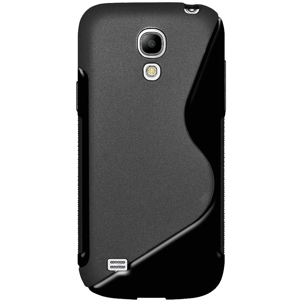 Amzer TPU Hybrid Case - Black for Samsung Galaxy S4 Mini GT-I9195, Samsung Galaxy S4 Mini GT-I9190, Samsung Galaxy S4 Mini Duos GT-I9192