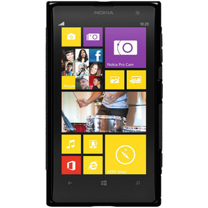 Amzer TPU Hybrid Case - Solid Black for Nokia Lumia 1020