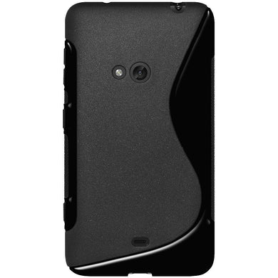 AMZER TPU Hybrid Case - Solid Black for Nokia Lumia 625