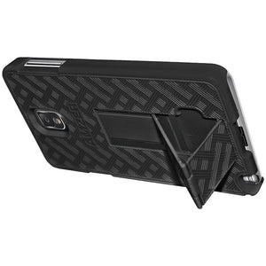 Amzer Snap On Case with Kickstand - Black for Samsung GALAXY Note 3 SM-N9005, Samsung GALAXY Note 3 SM-N9000, Samsung GALAXY Note 3 SM-N900