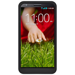 Amzer Silicone Skin Jelly Case - Black for LG G2 D802