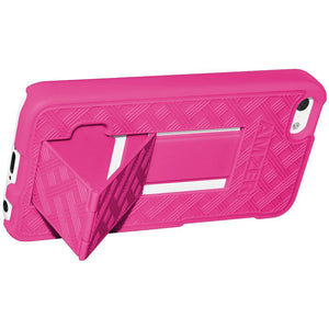 AMZER Snap On Case with Kickstand - Hot Pink for iPhone 5C