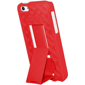AMZER Snap On Case with Kickstand - Red for iPhone 5C