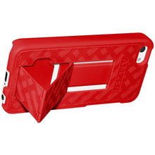 Load image into Gallery viewer, AMZER Snap On Case with Kickstand - Red for iPhone 5C