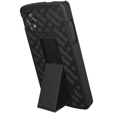 AMZER Snap On Case with Kickstand - Black for Google Nexus 5 D820