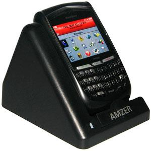 Amzer Desktop Cradle with Extra Battery Charging Slot for BlackBerry 8700g, BlackBerry 8700f, BlackBerry 8700c
