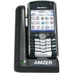 AMZER Desktop Cradle with Extra Battery Charging Slot for BlackBerry 8100