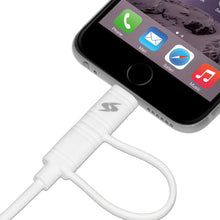 Load image into Gallery viewer, Amzer Apple MFi Certified 2-1 Sync & Charge Lightning cable with micro usb(3.2 Ft/1 M)-White