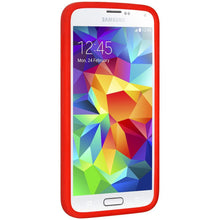 Load image into Gallery viewer, AMZER Silicone Skin Jelly Case for Samsung Galaxy S5 Neo SM-G903F - Red