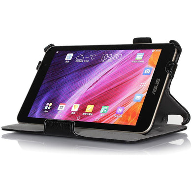 AMZER Shell Portfolio Case - Black Leather Texture for Asus MeMO Pad 7 ME176C