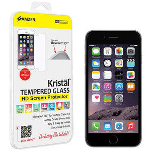 AMZER Kristal Tempered Glass HD Screen Protector for iPhone 6 - Clear