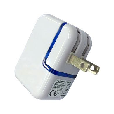 AMZER Dual USB Handy Foldable Power Adapter - White