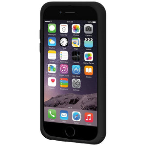 AMZER Shockproof Rugged Silicone Skin Jelly Case for iPhone 6 Plus - Black