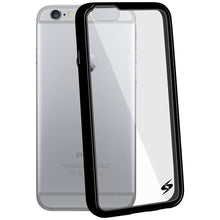 Load image into Gallery viewer, AMZER SlimGrip Hybrid Case - Black for iPhone 6 Plus