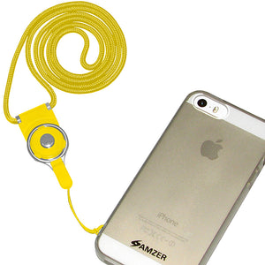 AMZER Detachable Cell Phone Neck Lanyard - Yellow for BlackBerry 8110