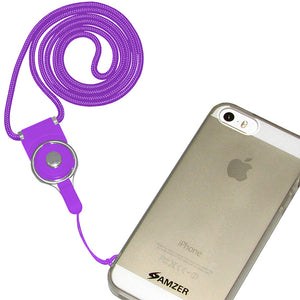AMZER Detachable Cell Phone Neck Lanyard - Purple for BlackBerry 8110