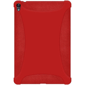 AMZER Shockproof Rugged Silicone Skin Jelly Case for Google Nexus 9 - Red
