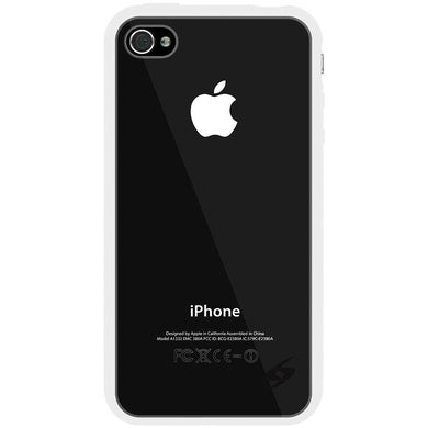 AMZER SlimGrip Hybrid Case - White for iPhone 4S
