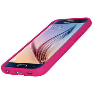 AMZER Silicone Skin Jelly Case for Samsung Galaxy S6 SM-G920F - Hot Pink