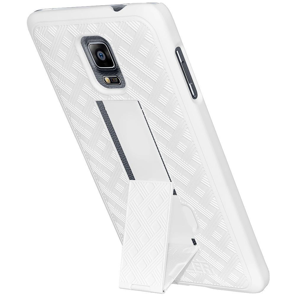 AMZER Snap On Case with Kickstand - White for Samsung GALAXY Note 4 SM-N910
