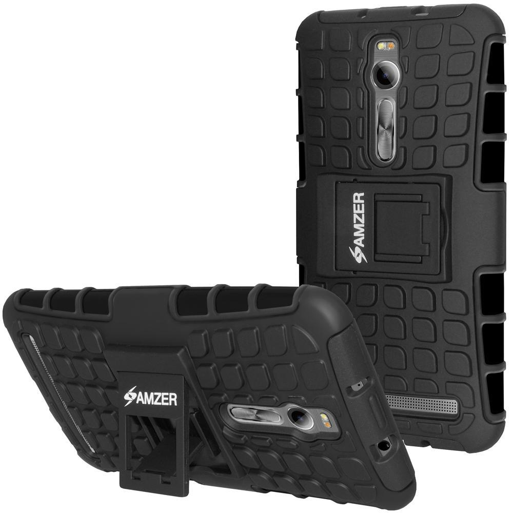AMZER  Warrior Hybrid Case for Asus Zenfone 2 Deluxe ZE551ML - Black/Black