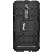 Load image into Gallery viewer, AMZER  Warrior Hybrid Case for Asus Zenfone 2 Deluxe ZE551ML - Black/Black