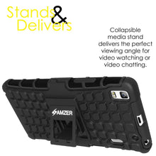 Load image into Gallery viewer, AMZER Shockproof Warrior Hybrid Case for Lenovo A7000 - Black/Black