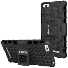 Load image into Gallery viewer, AMZER Shockproof Warrior Hybrid Case for Xiaomi Mi 4i - Black/Black