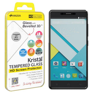 AMZER® Kristal™ Tempered Glass HD Screen Protector for BLU Studio Energy D810