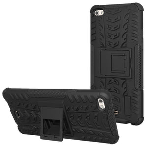 AMZER Shockproof Warrior Hybrid Case for Micromax Canvas Sliver 5 - Black/Black