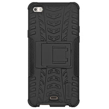 Load image into Gallery viewer, AMZER Shockproof Warrior Hybrid Case for Micromax Canvas Sliver 5 - Black/Black
