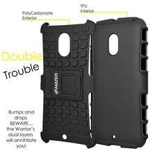 Load image into Gallery viewer, AMZER Shockproof Warrior Hybrid Case for Motorola Moto X Play - Black/Black
