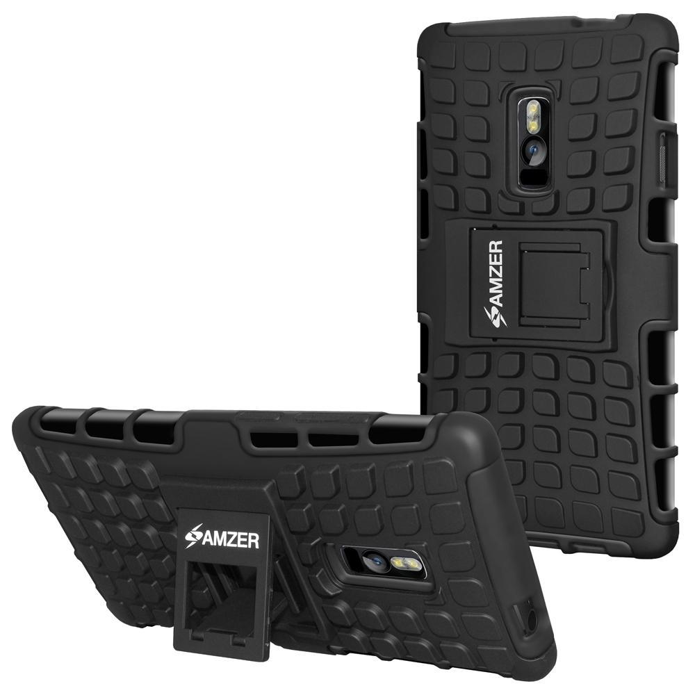 AMZER Shockproof Warrior Hybrid Case for OnePlus 2 - Black/Black