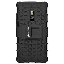 Load image into Gallery viewer, AMZER Shockproof Warrior Hybrid Case for OnePlus 2 - Black/Black