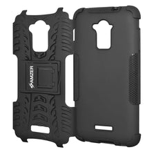 Load image into Gallery viewer, AMZER Shockproof Warrior Hybrid Case for Coolpad Dazen Note 3 - Black/Black