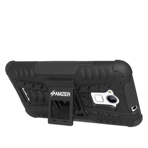 AMZER Shockproof Warrior Hybrid Case for Coolpad Dazen Note 3 - Black/Black