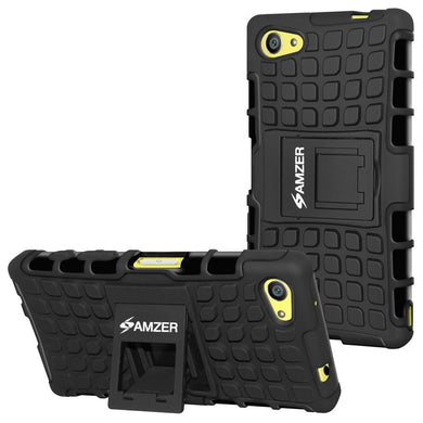 AMZER Hybrid Warrior Case for Sony Xperia Z5 Compact - Black/ Black