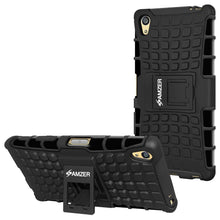 Load image into Gallery viewer, AMZER Shockproof Warrior Hybrid Case for Sony Xperia Z5 Premium - Black/Black