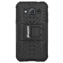 Load image into Gallery viewer, AMZER Shockproof Warrior Hybrid Case for Samsung Galaxy J2 2017 - Black/Black